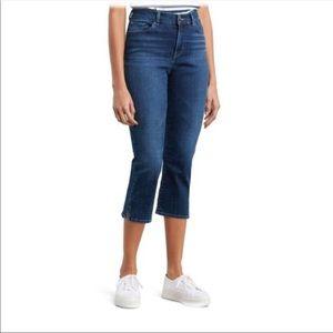 Levi's Classic Slim Stretch Cropped Capri Jeans 12